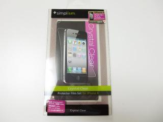Simplism Protector Film Set for iPhone 4 Crystal Clear
